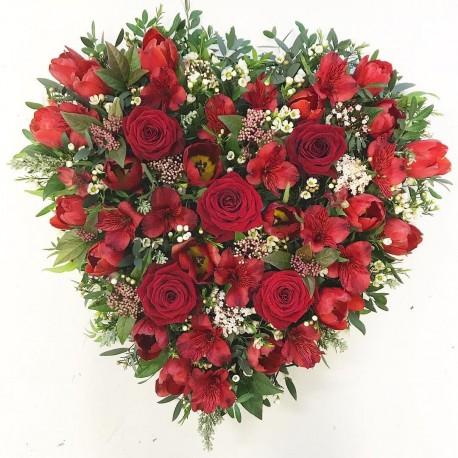 Heart Shaped Funeral Wreath