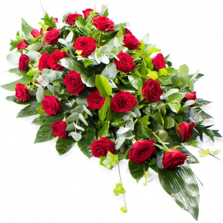 Red Rose Funeral Spray