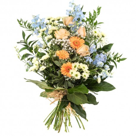 Country Style Tied Sheaf Funeral Arrangement